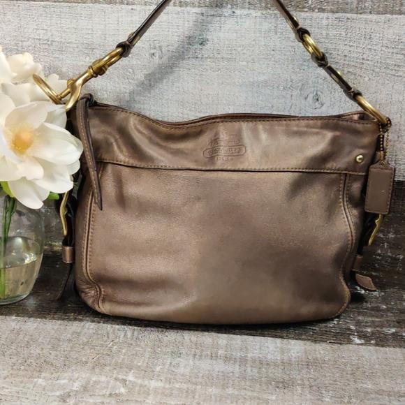 Coach Handbags - bronze coach leather hobo bag